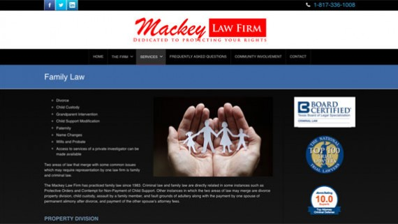 Fort Worth Attorney Website