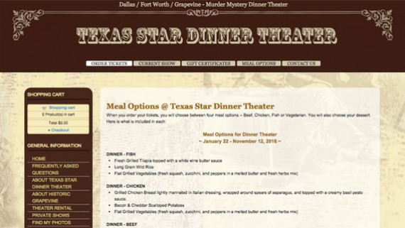 Fort Worth Theater Website