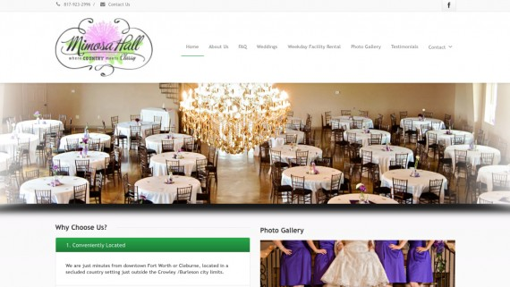 Fort Worth Wedding Venue Website