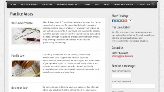 Fort Worth Law Firm Website