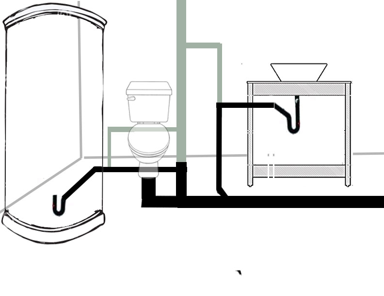 Let U0026 39 S Try This Again  Diagram And Venting New Bathroom